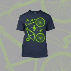 9c4eca5e4fa Bike Parts Graphic design Cycling T Shirts
