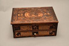 Straw Art Box French Circa 1800 Amazing Marquetry Folk Art Prisoner art, France Napoleonic by justbecauseshecan on Etsy