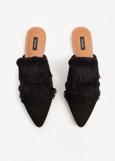 Zapato destalonado piel   MANGO