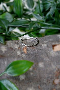 Sterling Silver Rope Ring | Etsy Silver Rings Handmade, Stackable Rings, Handmade Items, Wedding Rings, Engagement Rings, Gemstones, Sterling Silver, Etsy, Jewelry