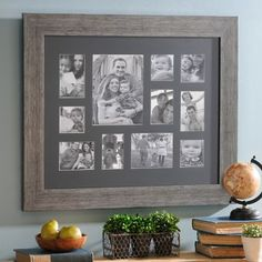 Rustic Black Collage Frame | Kirklands I'm thinking this will look very cute in my living room. Lots of pictures need to be framed!