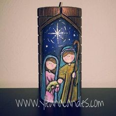 Diy And Crafts, Candle Holders, Creative, Christmas, Handmade, Painting, Design, Paper Beads, Handmade Candles
