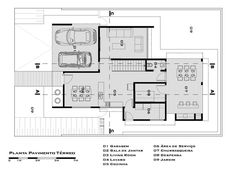 Ground Floor Plan (Planta do pavimento térreo) (De Tony Santos Arquitetura)