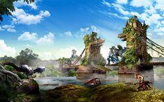 Descargar fondos de pantalla Horizonte Cero Amanecer, 2017, RPG, PlayStation 4, cartel, juegos nuevos