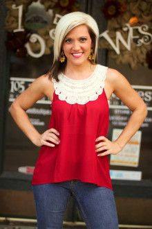 """Alice"" Crochet Top.  Regular $24.99, on SALE for $12.99.  ~  105 West Boutique located in Abbeville, SC.  (864) 366-WEST.  Shipping $5.  Look for us on Facebook!"