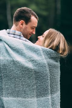 Cozy Canada engagement: http://www.stylemepretty.com/canada-weddings/quebec/2015/07/22/a-springtime-mont-tremblant-engagement-session/ | Photography: Melissa Johnston - http://melissajohnstonphotography.com/