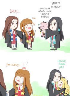 "Cute haha Ninjacat 💫 on Twitter: ""Wizard Chuu #loona #이달의소녀 #이브 #고원 #츄 #올리비아혜 #fanart #yves #gowon #chuu #oliviahye #yyxy… """