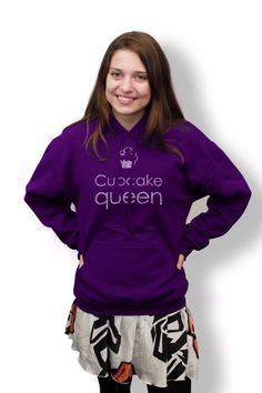 Cupcake Queen Baking Puns, Cupcake Queen, Gbbo, Great British Bake Off, Hoodies, Sweatshirts, Graphic Sweatshirt, Sweaters, Clothes
