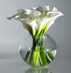 arreglos florales con calas blancas