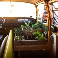 At long last, the van garden is complete!  Constructed with reclaimed wood…