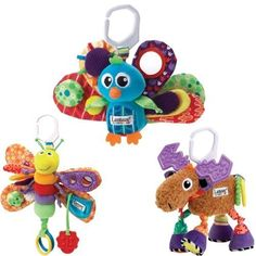 Lamaze Jacques the Peacock Plus Freddie the Firefly and Mortimer the Moose Baby Bundle by Lamaze. $59.99. Featuring multiple textures, colors and sounds to keep your baby captivated and entertained, this plush Lamaze« Jacques the Peacock toy from Learning Curve« comes complete with a Lamaze« link, making it easy to take with you wherever you go!   This Set Includes   * Lamaze Jacque The Peacock  * Lamaze Mortimer The Moose  * Lamaze Freddie The Firefly