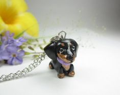 Love Little Legs Doxie Dachshund Dog Necklace by Crafting4Cause