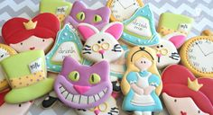 Alice Inspired Decorated Sugar Cookies