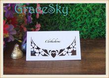 Горячая распродажа лазерная резка свадебные приглашения украшения место карточки для стола, в форме сердца форме цветка валентина бумаги ну вечеринку декор(China (Mainland))