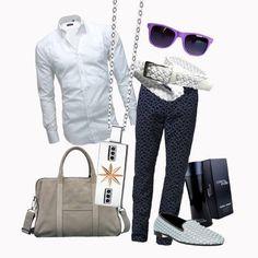 Una camicia bianca non deve mai mancare nel guardaroba di un uomo, come i gioielli Luca Barra. #camiciabianca #outfit #look #consiglidistile #lucabarragioielli
