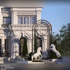 """Sarah sadeq architects on Instagram: """"A classic elegance , with details done with care and without the expected repetition #sarahsadeq private villa 600 m kuwait 🤩"""" Neoclassical Architecture, Classic Architecture, Commercial Architecture, Condo Design, Villa Design, Classic Elegance, Modern Classic, Stone Facade, Luxury Bedroom Design"""