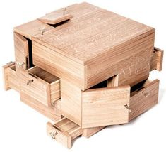 Designed by architect Sigurd Larsen, the box comes with a gaggle of doors and drawers of various sizes all around it, making the darn thing look like one of those cursed magical boxes they use as props in supernatural horror films. Seriously. Horror pedigree notwithstanding, they sure would make a perfect storage piece for organizing jewelry, watches, pocket dumps, and other small items. http://www.coolthings.com/shrine-storage-cube/