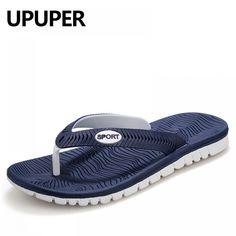 8c902090c UPUPER Summer Men Flip Flops Male Mixed Color Slippers Men Casual PVC EVA  Shoes Summer Fashion Beach Sandals Size 40~45
