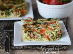 This Slow Cooker Breakfast Frittata is another triumph of the slow cooker. Packed with veggies and sausage, it makes a satisfying and healthy breakfast effortless. Use nitrate-free turkey or chicken sausage for Phase 1 (sub egg whites for the eggs) and Phase 3.