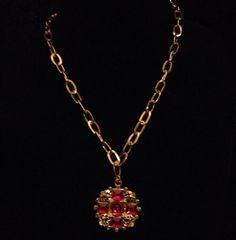 Gold royal necklace  by azCreationsByAlyssa on Etsy
