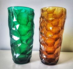 Wazon okulus optyczny Drost Ząbkowice ZESTAW Modern Vases, Mid-century Modern, Loft Design, Stained Glass Windows, Mid Century Design, Poland, Glass Art, Arts And Crafts, Objects