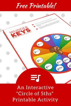 The Circle of 5ths Wheel Of Fun; An Interactive, Hands-on Activity | Teach Piano Today