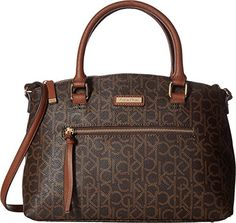 78115e2ad861 Calvin Klein Womens Key Item Monogram Satchel -