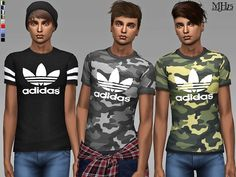 -some cool tshirts for your male sims!  Found in TSR Category 'Sims 4 Male Everyday'