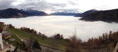 Ein einzigartiger Blick von der Hotelterrasse- ein Tag vor dem lang ersehnten Wintereinbruch. Hotels, Relax, Mountains, Nature, Travel, Terrace, Alps, Voyage, Viajes