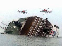 Balsa afunda na Coreia do Sul com 477 pessoas a bordo