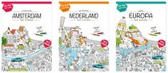 Color, play and discover Amsterdam with this delightful children's map! verymappy.com
