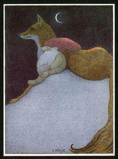 Lennart Helje - Fox and Gnome Fuchs Illustration, Children's Book Illustration, Yule, Fox Art, Scandinavian Christmas, Fairy Art, Whimsical Art, Christmas Art, Illustrators