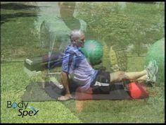 Calf myofascial release stretch: BodySpex fitness with Jai - YouTube