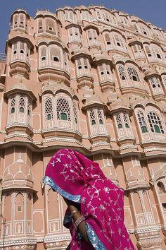 At Hawa Mahal City Palace, Jaipurs Most Poster By Axiom Photographic