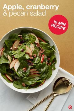 Apple Cranberry & Pecan Salad