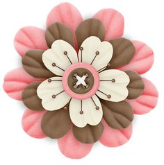 Cute Cliparts ❤ Pink and Brown Flower