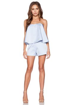 keepsake Night After Night Playsuit in Powder Blue | REVOLVE