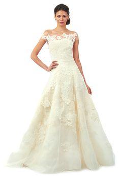 Brides.com: Oscar de la Renta - Fall 2014| Click to see more from this collection!