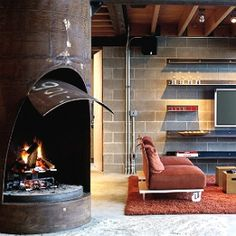 Smart architectural design meets and modern interior design in this unique lake cabin in Idaho. (viaOlson Kundig Architects) (in German)
