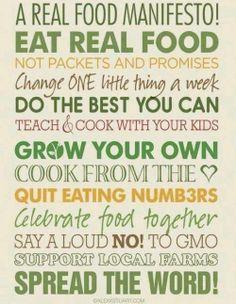 A real food manifesto from PaleoHacks.com