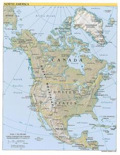 north america topographical map a typical topographic type map highlights hills mountains and valleys of a specific land area by exaggerated shading