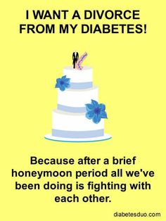 I've seen how many changes both my Grandson and my Daughter have had to go through since my Grandson was diagnosed... and I'm certain they would really like to divorce Diabetes too, if only they could.  I keep praying for a cure and hope God answers my prayers.