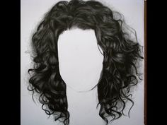 Cómo dibujar cabello chino/quebrado - How to draw curly hair - YouTube