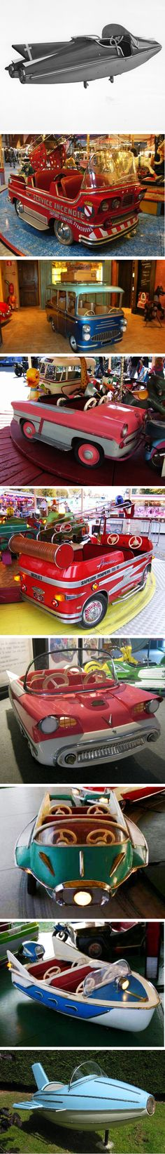 Fairground rides vintage vehicles  ~ Repinned via Sandy