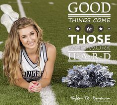 @Shelby Whitfield - Lone Star High School - Class of 2013 - #seniorportraits - Senior Model Rep - Fall Session - Frisco - Football Field - Cheer Uniform - Pom Poms - #tbt - Tyler R. Brown Photography