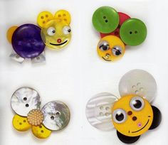 BUTTON - BEE, butterfly, and more