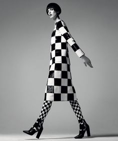 Graphic Impact - Harper's Bazaar, February 2013 - Dress: Louis Vuitton. Photo by Gregory Harris