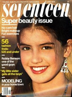 June 1979 cover with fifteen-year-old Phoebe Cates photographed by Bruce Weber