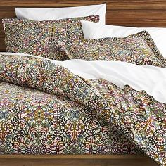 Lucia Duvet Covers and Pillow Shams    Crate and Barrel