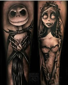 amazing the nightmare before Christmas tattoo!❤
